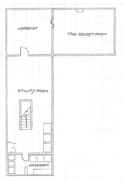 Layout of the lower level in Version 3 of the communal house