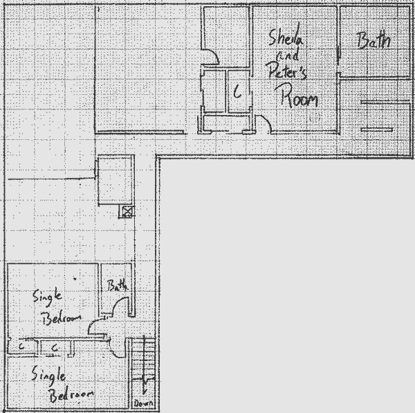 Layout of the upper level in Version 7 of the communal house