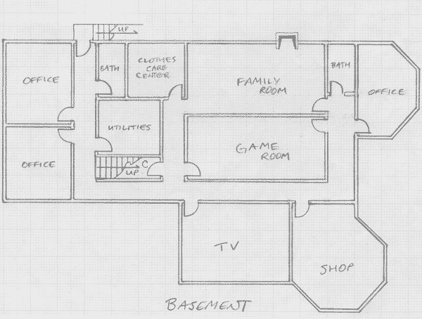 Layout of the lower level in Version III.1 of the communal house