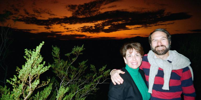 Steven and Sharon in Arizona at sunset