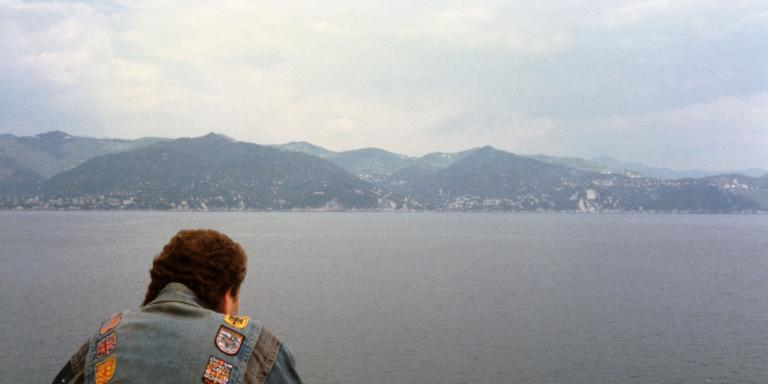 Elliot looking out on the Amalfi Coast in 1991