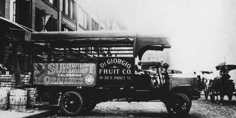 The Di Giorgio Fruit Company truck, in Baltimore
