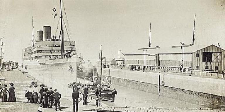 The SS Heliopolis at harbor