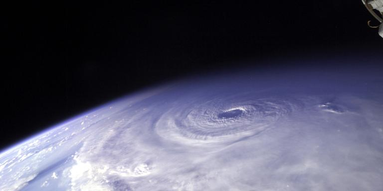 International Space Station view of hurricane Ivan and the eye of the storm.