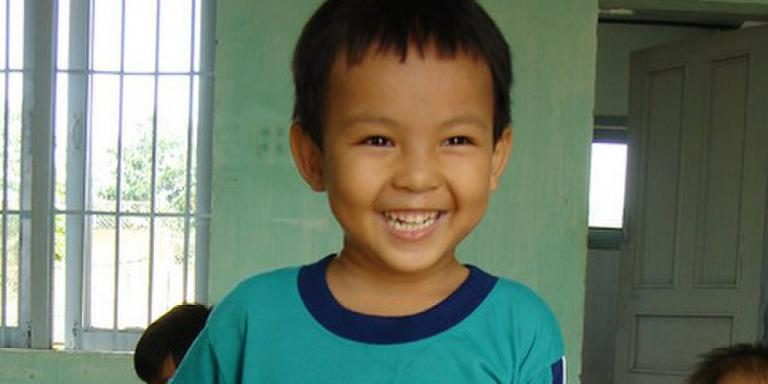 Logan at the Tan Tan Orphanage, January 2008
