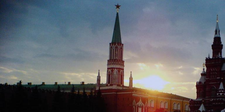 Moscow's Red Square at sunset