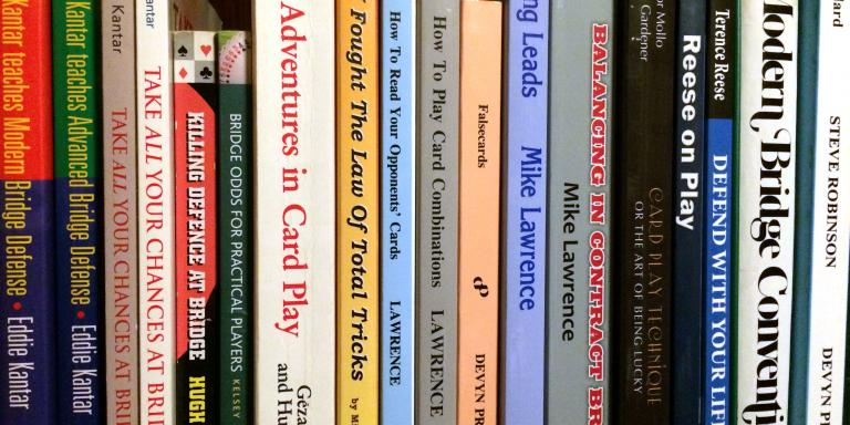 My shelf of bridge books