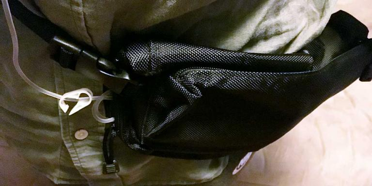 Chemo infusion pump in waist pack