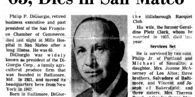 Philip Di Giorgio's obituary notice